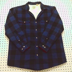 Red Head Sherpa Lined Flannel, Size Large
